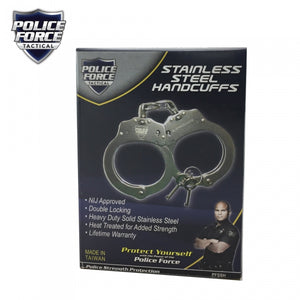 Police Force Stainless Steel Handcuffs