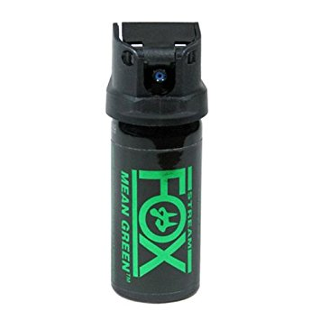 2 oz. Mean Green Pepper Spray Stream