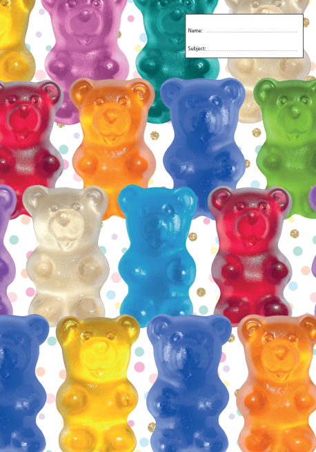 Book Cover - A4 - Gummy Bear