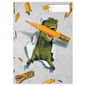 Book Cover - Scrapbook - Dino Pencil