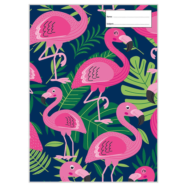 Book Cover - A4 - Pink Flamingo