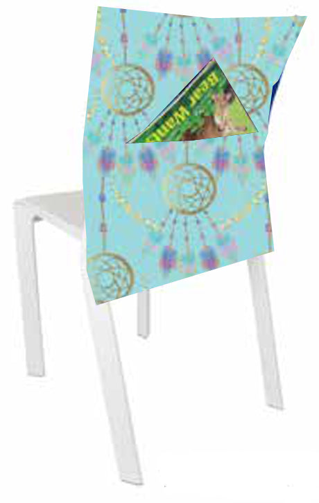 Chair Bag - Teal Dream Catcher