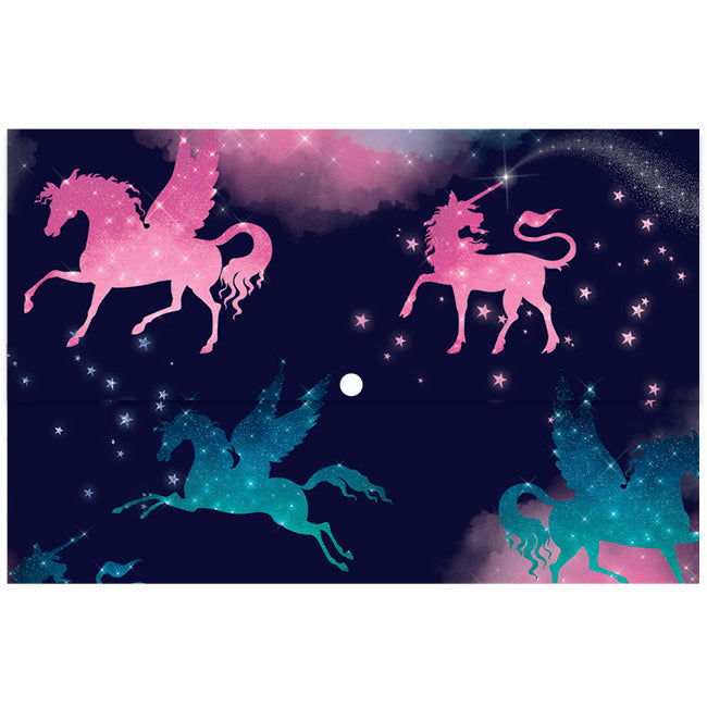 Document Wallet - Sparkly Unicorn
