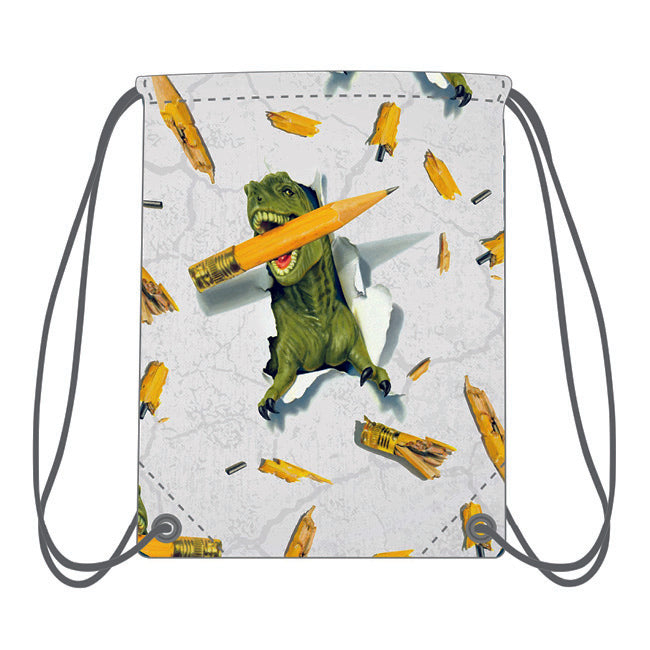 Drawstring Bag - Dino Pencil