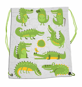 Drawstring Bag - Crocodiles