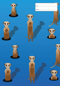Book Cover - Exercise Book - Meerkats