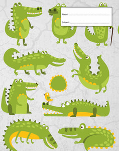 Book Cover - Exercise Book - Crocodile