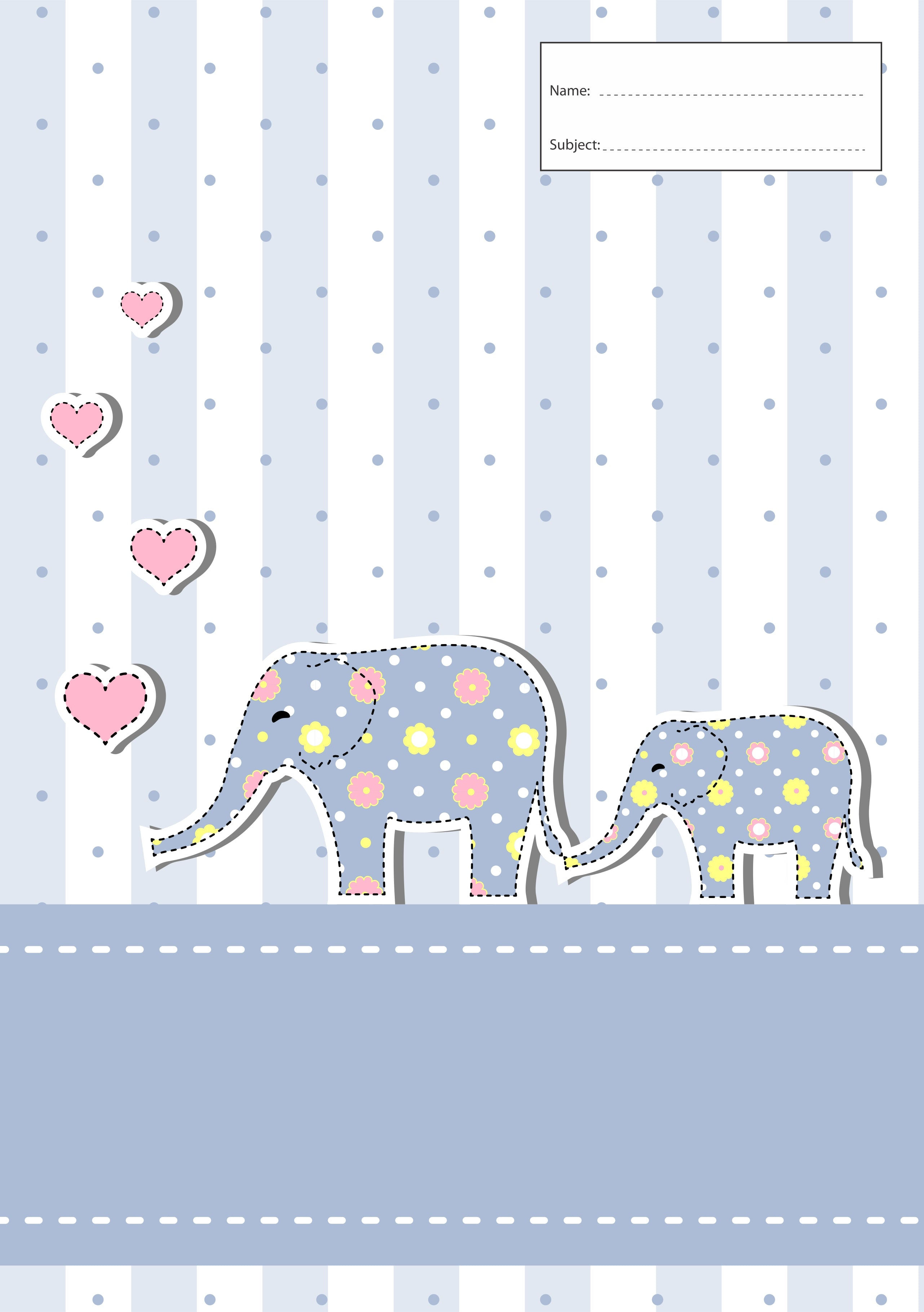Book Cover - A4 - Elephants