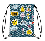 Drawstring Bag - Patches