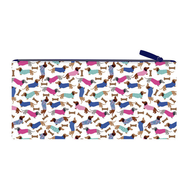 Long Pencil Case - Dachshunds