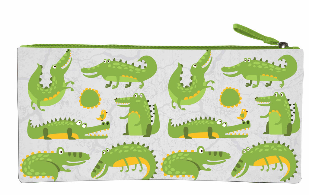 Long Pencil Case - Crocodiles