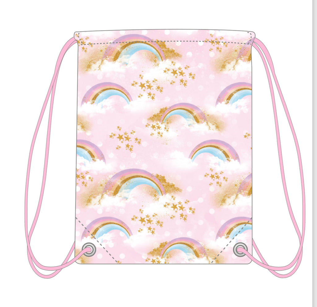 Drawstring Bag - Rainbows