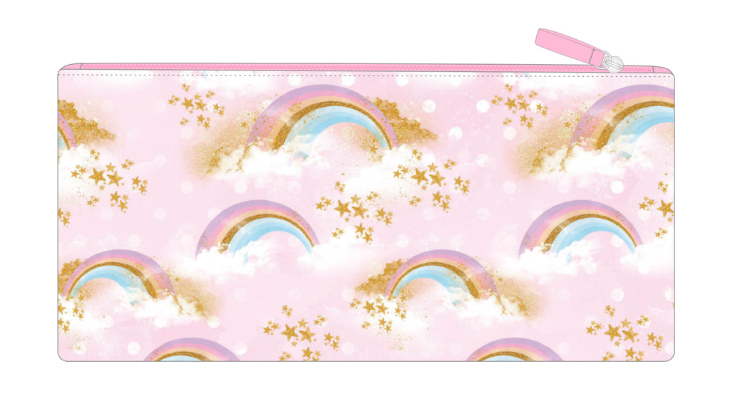 Long Pencil Case - Rainbows