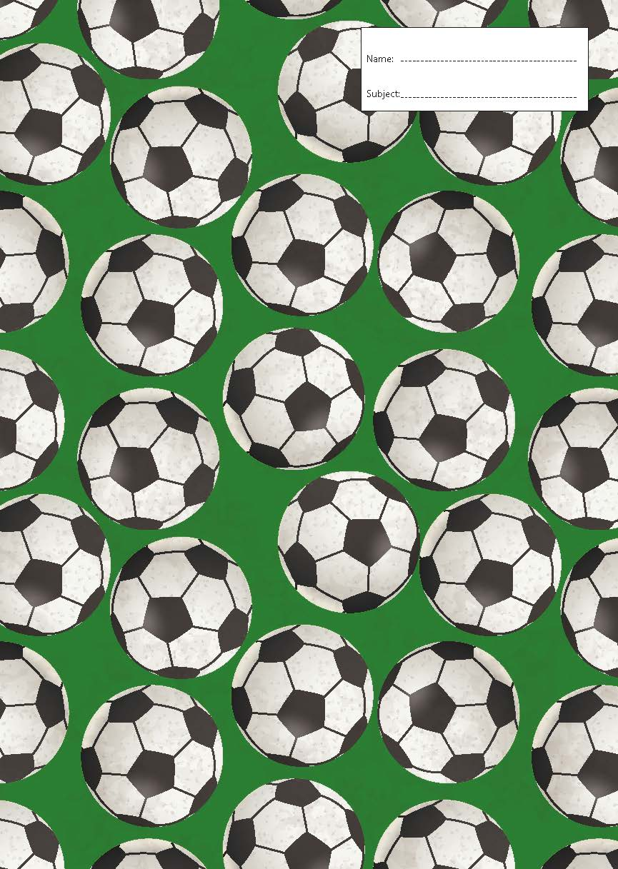 Book Cover - Exercise Book - Soccer Balls