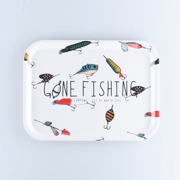 GONE FISHING BRICKA 27X20CM - LURE WHITE
