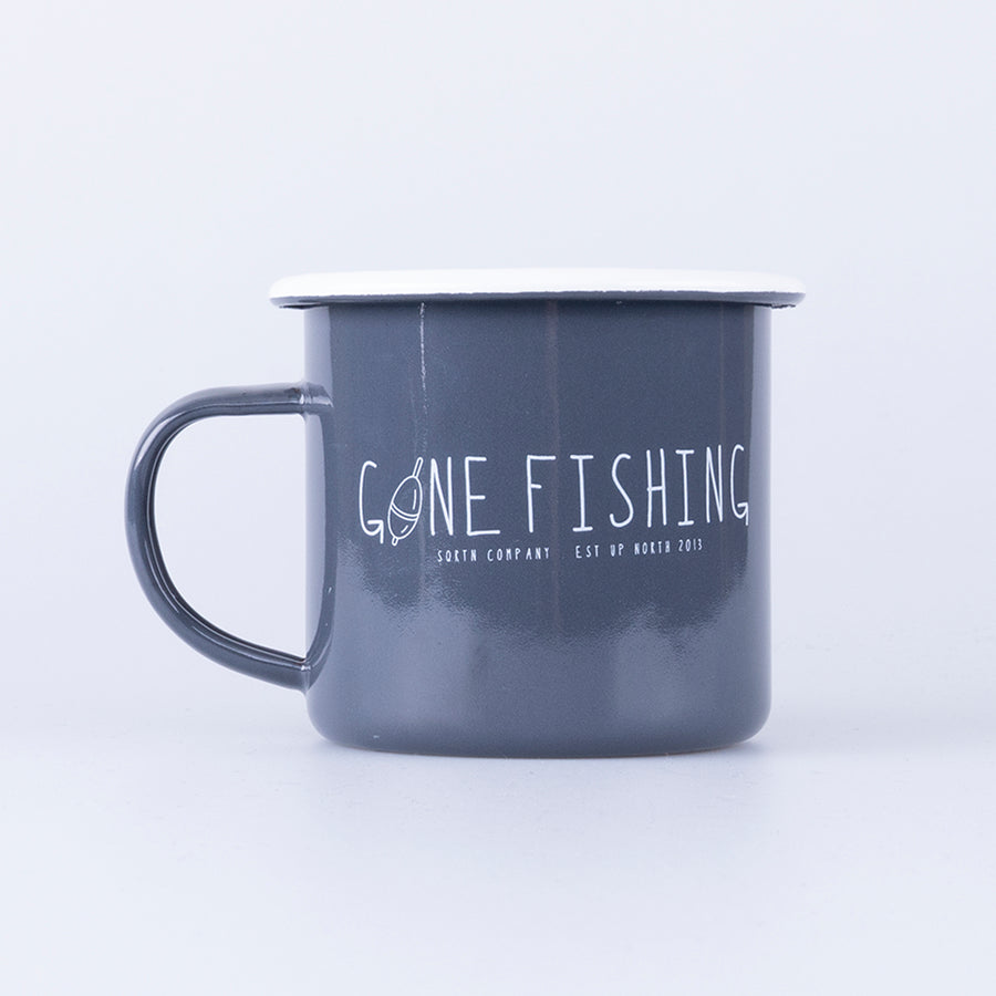 GONE FISHING MUGG - CHARCOAL