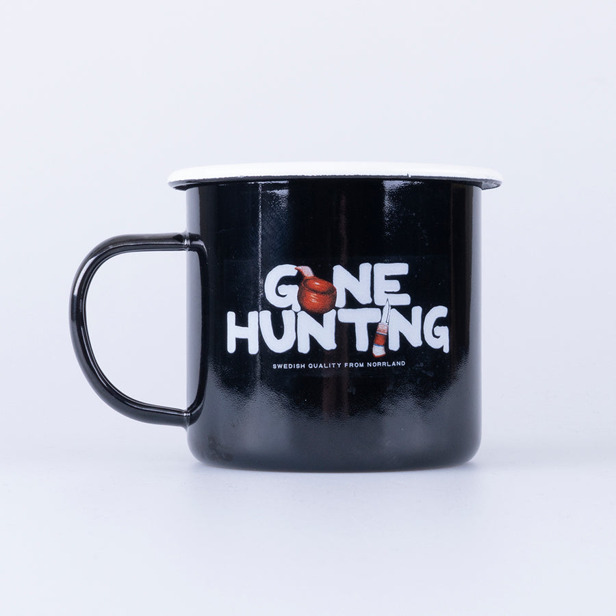 GONE HUNTING MUGG - BLACK