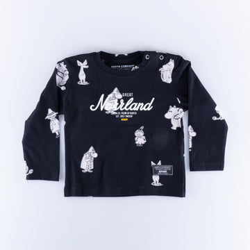 GREAT NORRLAND KIDS LONGSLEEVE - MUMIN BLACK