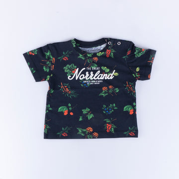GREAT NORRLAND KIDS T-SHIRT - BERRY BLACK