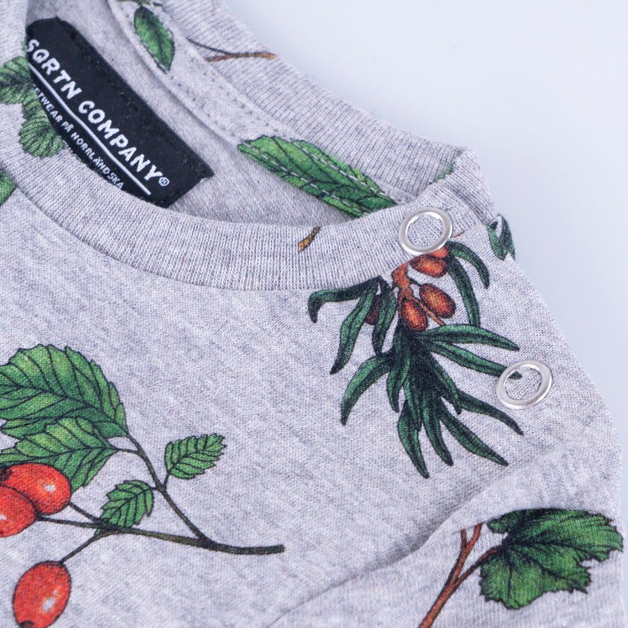 GREAT NORRLAND KIDS T-SHIRT - BERRY GREY