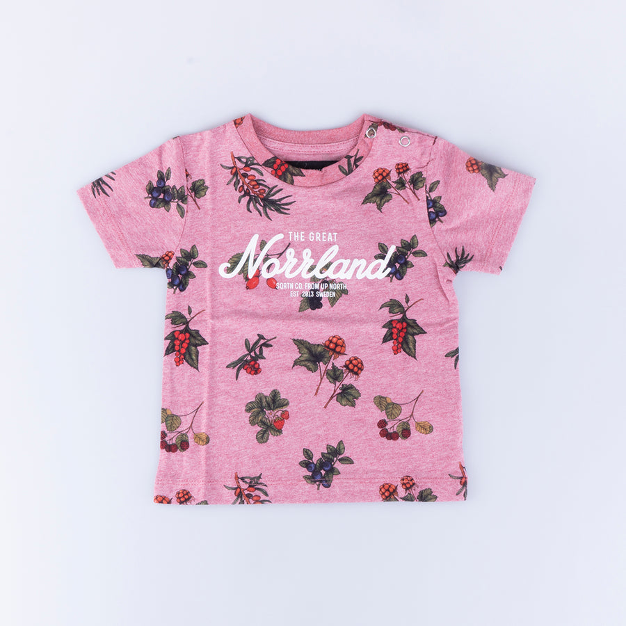GREAT NORRLAND KIDS T-SHIRT - BERRY PINK