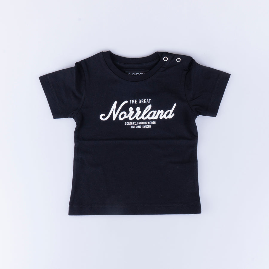 GREAT NORRLAND KIDS T-SHIRT- BLACK