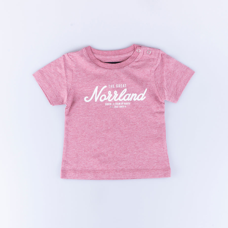 GREAT NORRLAND KIDS T-SHIRT - PINK