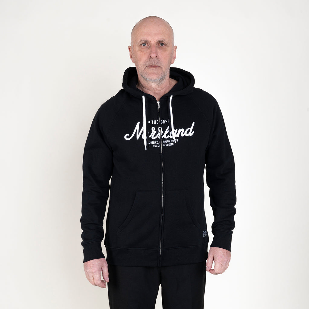 GREAT NORRLAND ZIPHOOD - BLACK