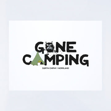 POSTER MUMIN GONE CAMPING