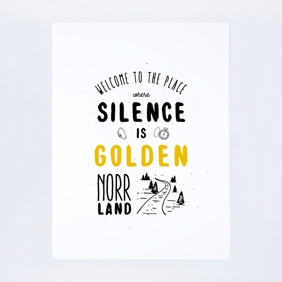 POSTER SILENCE IS GOLDEN