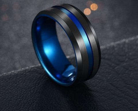 Black Blue Stainless Steel
