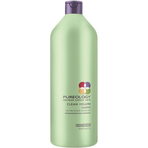 Pureology Clean Volume Shampoo Liter - Omaet The Salon