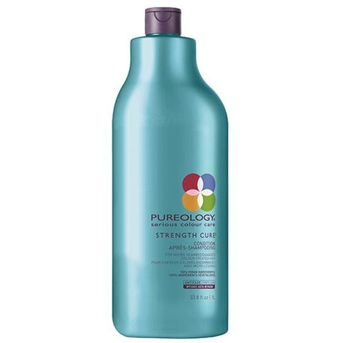 Pureology Strength Cure Shampoo Liter - Omaet The Salon