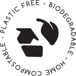 Oasis Black - reusable, recyclable, compostable and plastic free packaging