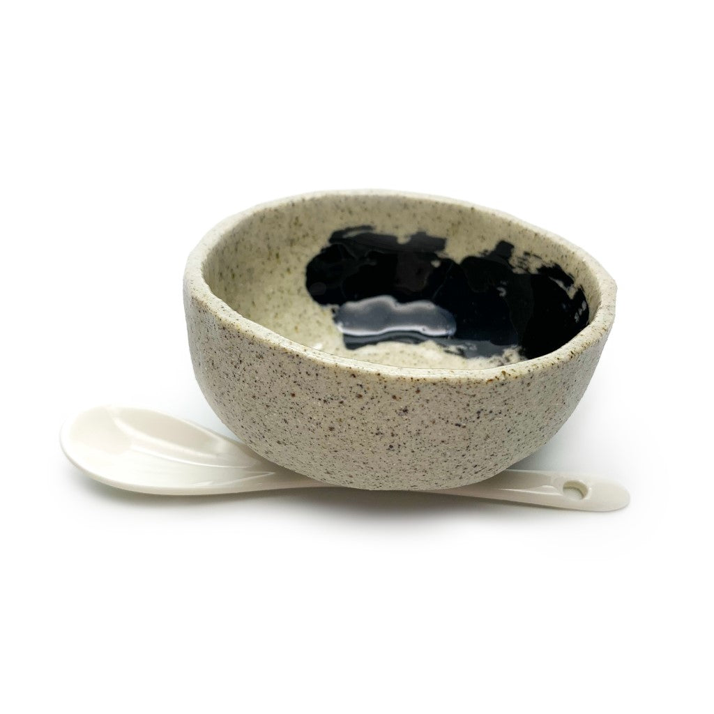 Ceramic Bowl & Spoon - Premium