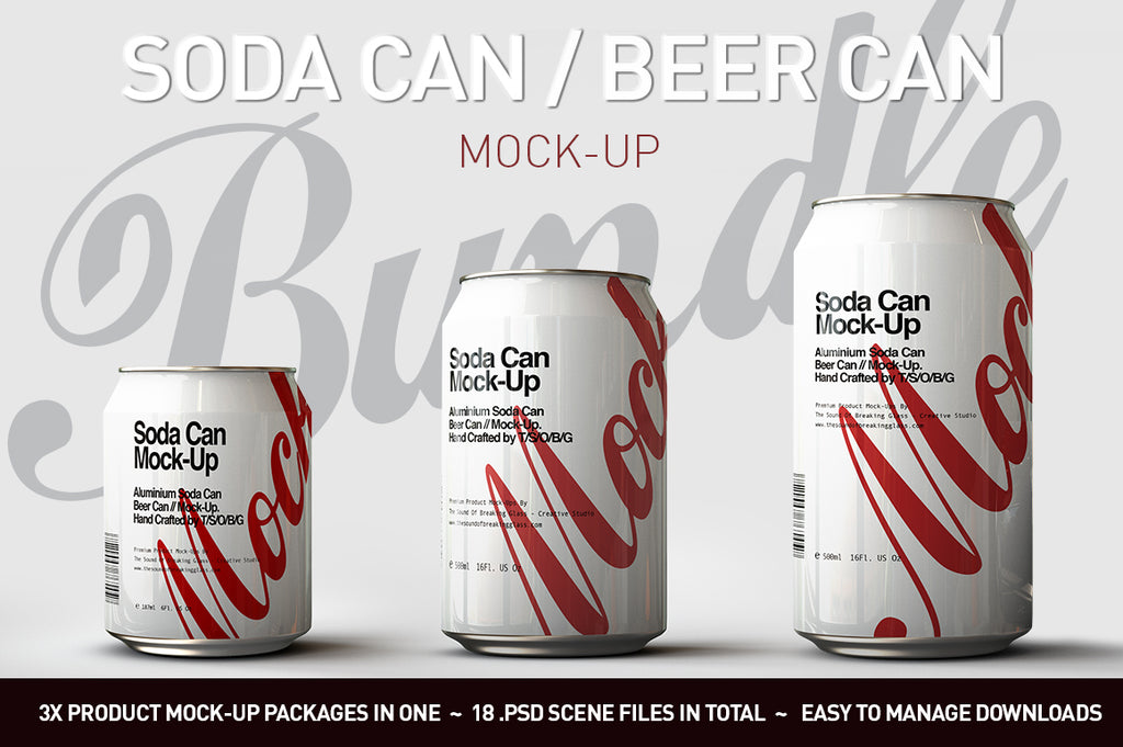 Soda Can | Beer Can Mock-Up Bundle