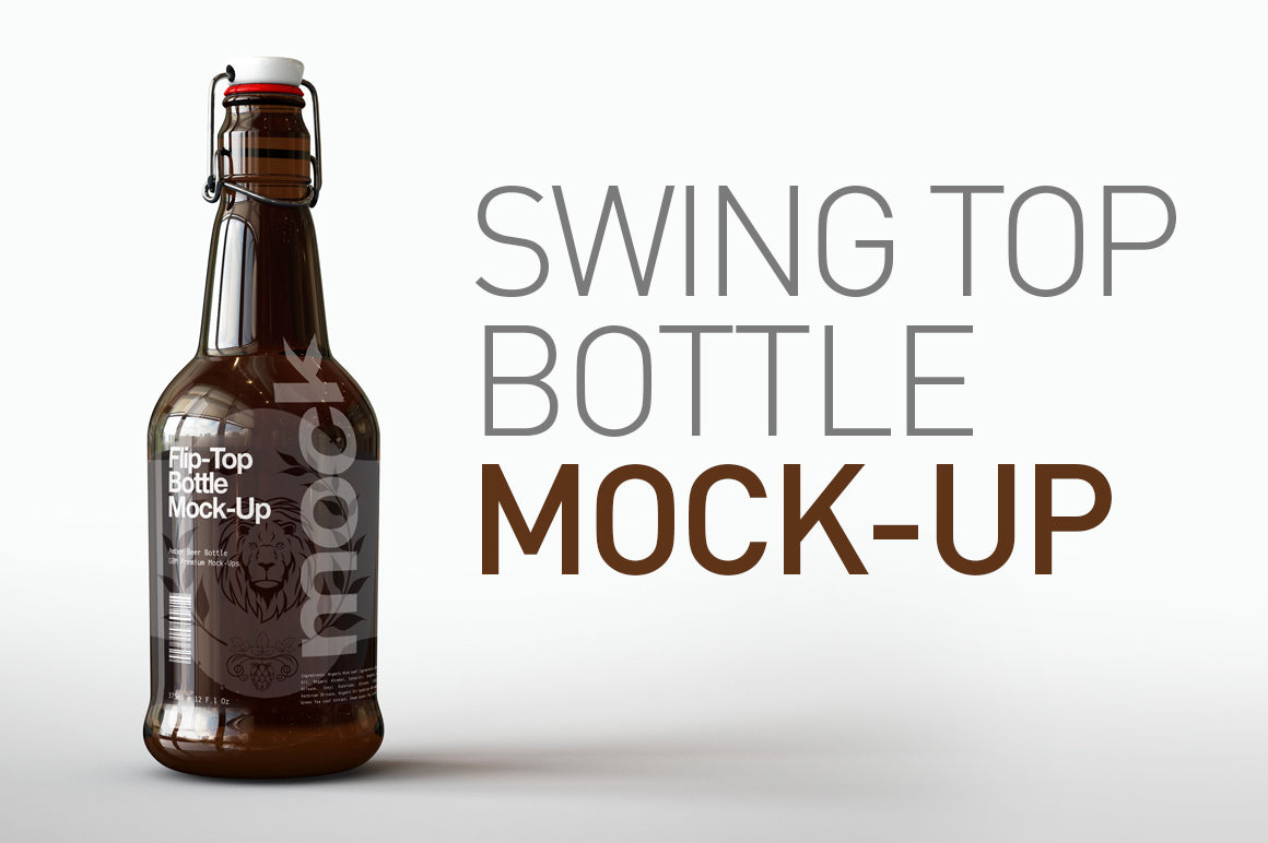 Swing Top Beer Bottle Mock-Up