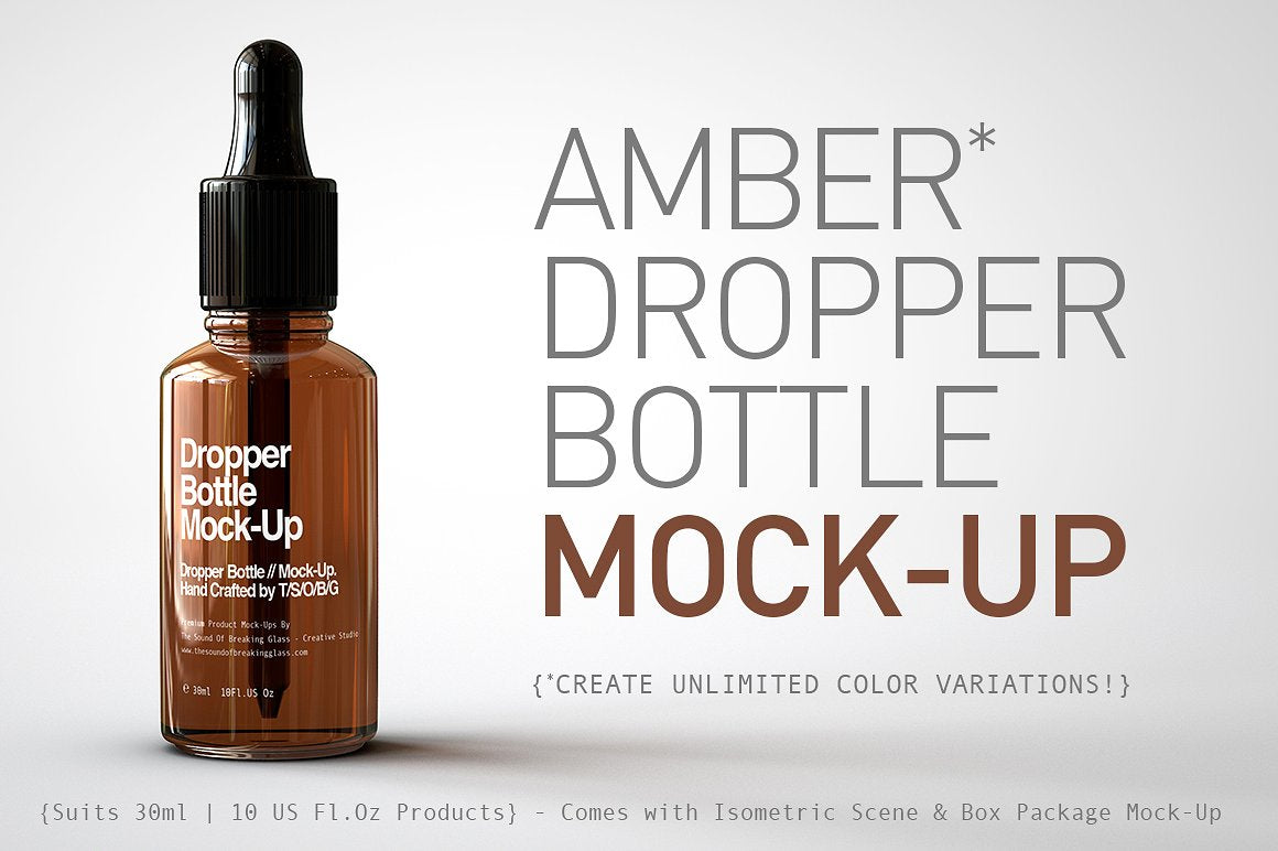 CBD-Oil Dropper - Cannabis Oil Dropper Bottle - Hemp Oil -Dropper Bottle Mock-Up