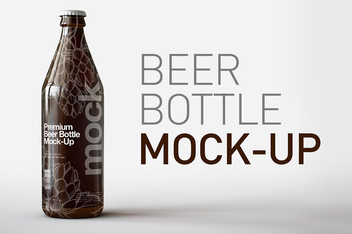 Tall Longneck Beer Bottle Mock-Up