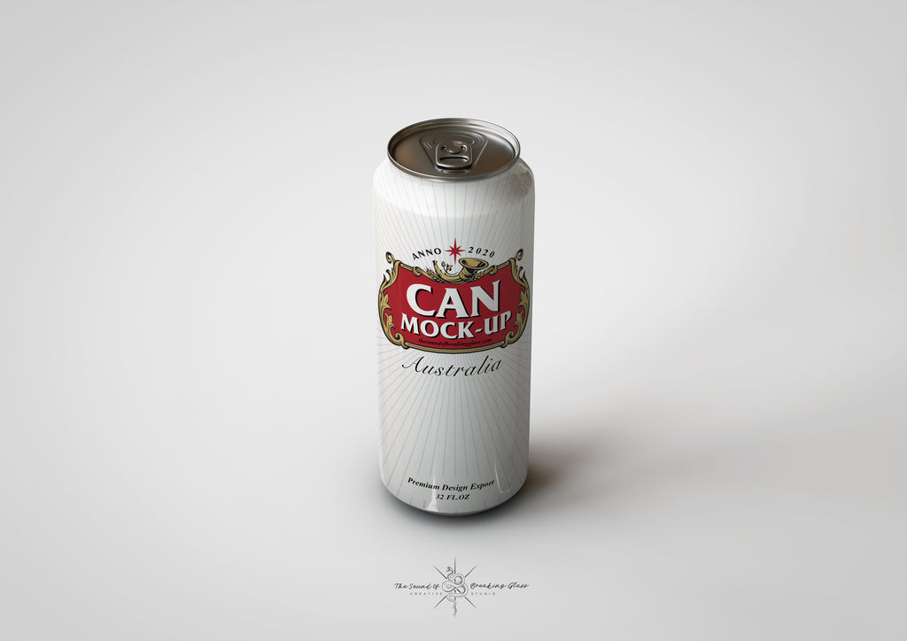 Crowler Can Mock-Up - Long Tall Thin Slender Beer and Soda Can Mock-Up