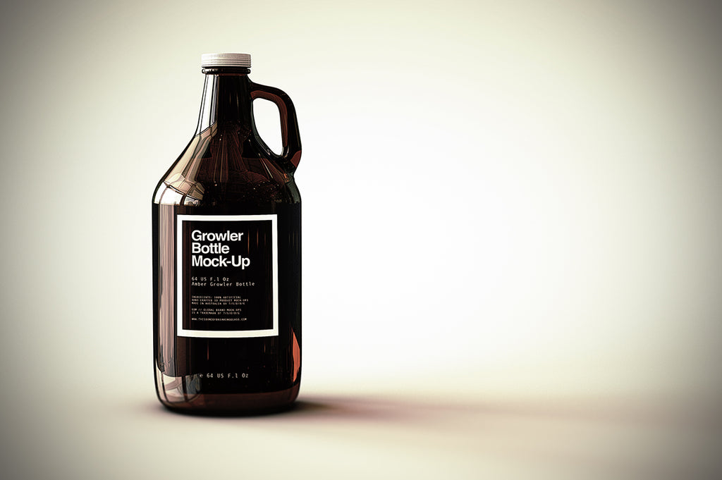 Growler Beer Bottle Mock-Up