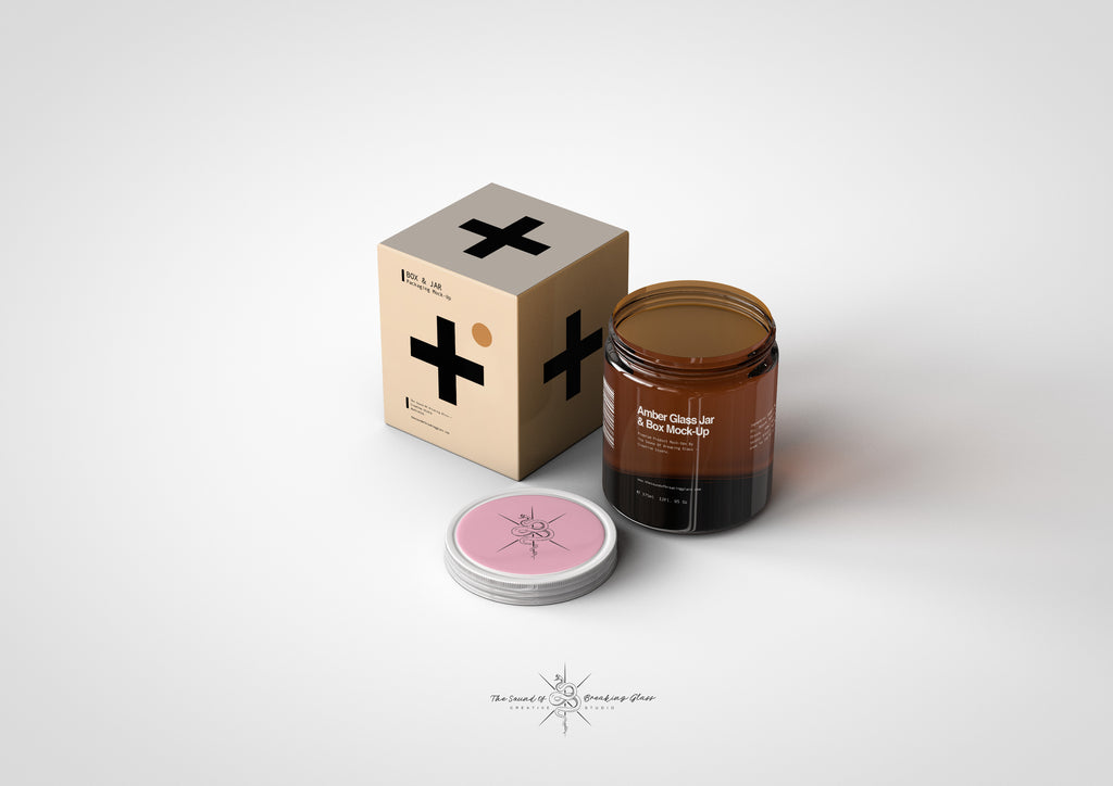 Amber Cosmetics Jar & Box Mock-Up