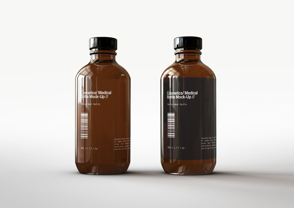 Amber Cosmetics | Medical | Essential Oils | Bottle Mock-Up