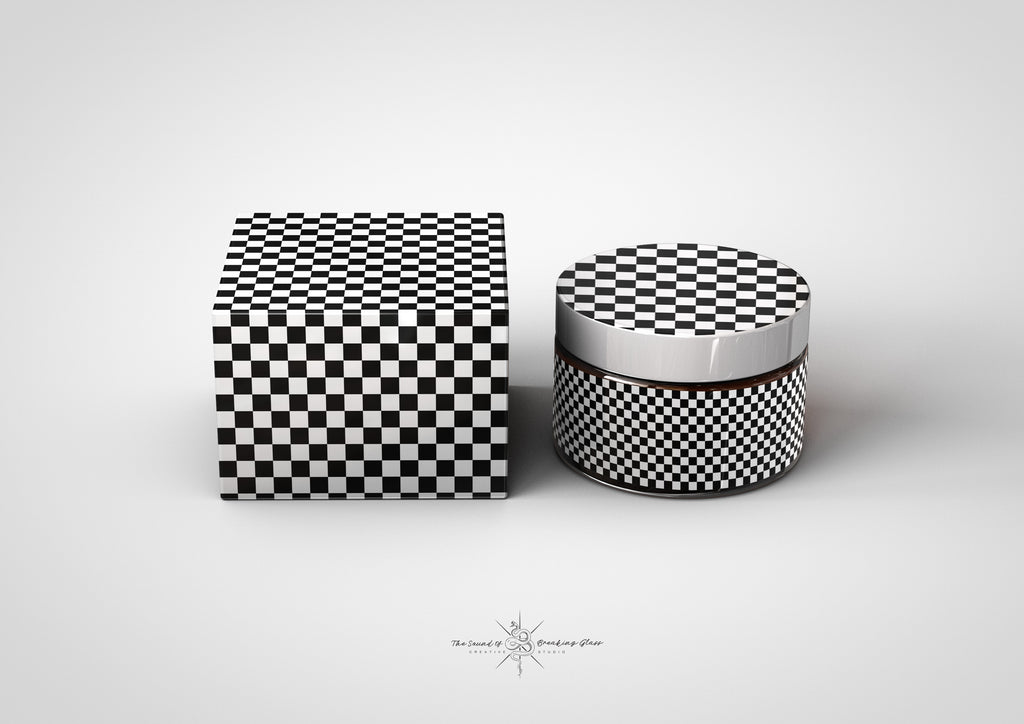 Amber Cosmetics Pot & Box Mock-Up