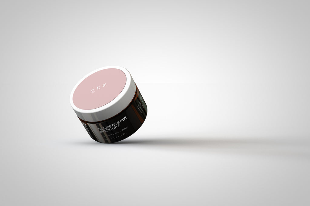 Cosmetics Pot Mock-Up | Amber Cosmetics Pot | Beauty Pot Mock-Up