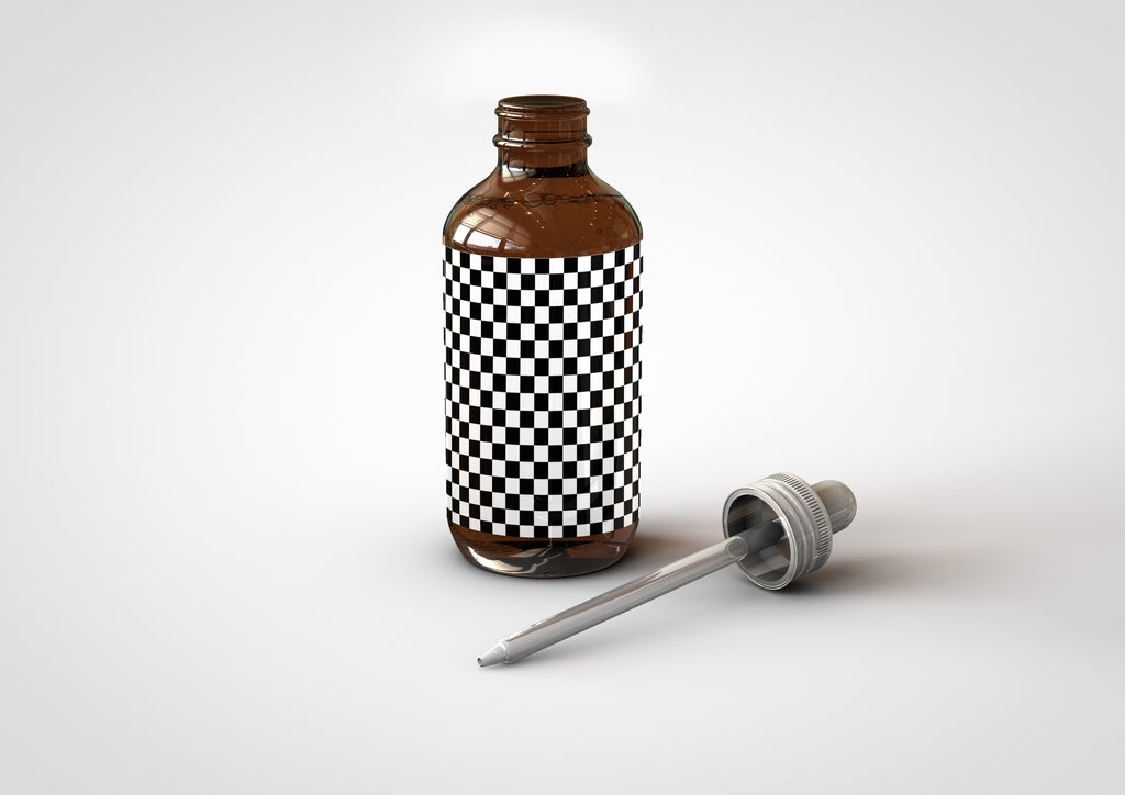 Amber Eye Dropper | Pharmacy Dropper Bottle Mock-up