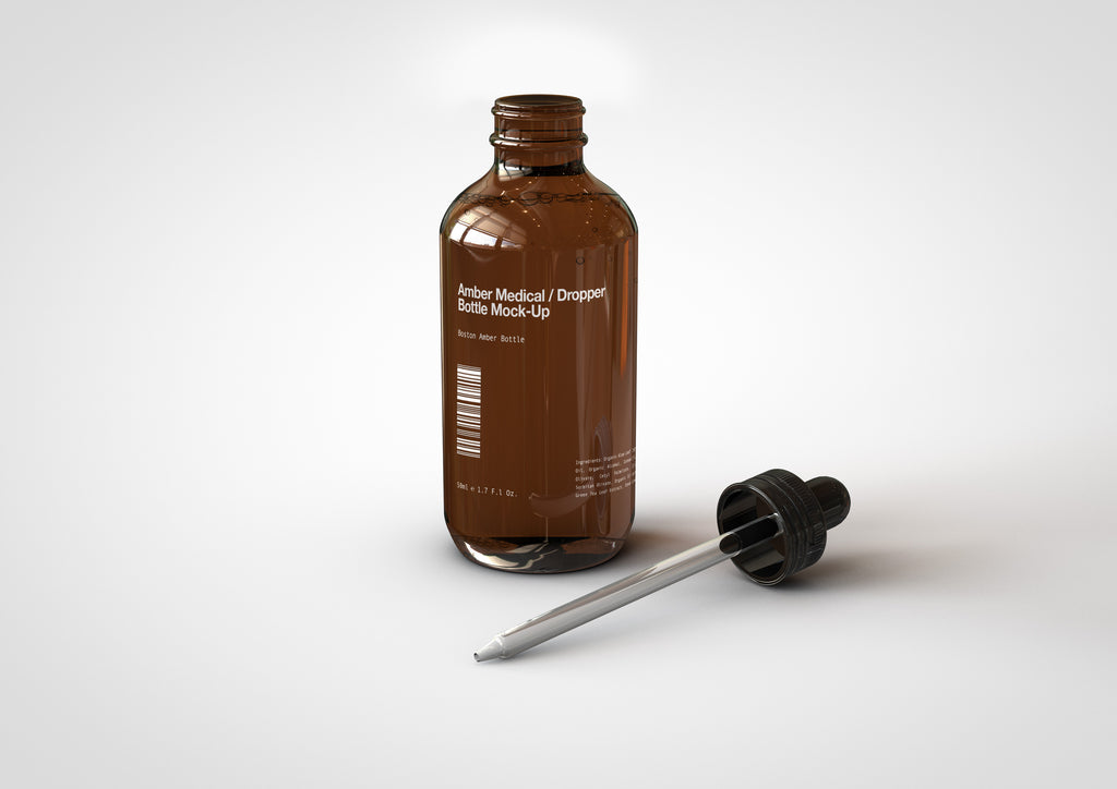 Amber Cosmetics | Medical | Dropper Bottle Mock-Up