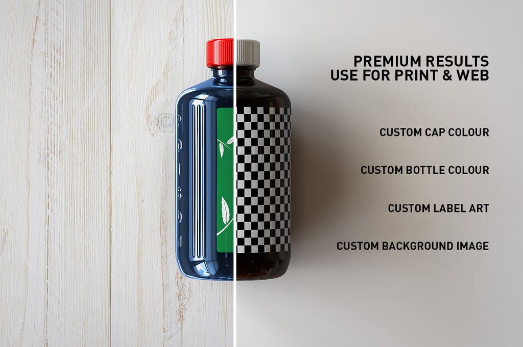 POISON Medical Bottle - Tea-Tree Oil Bottle Mock-Up | Antiseptic Bottle Mock-Up