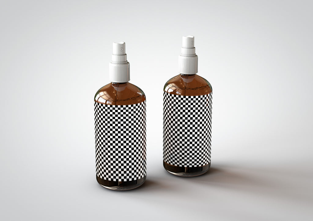 Amber Mist | Hair Spray | Spritzer Bottle Mock-Up