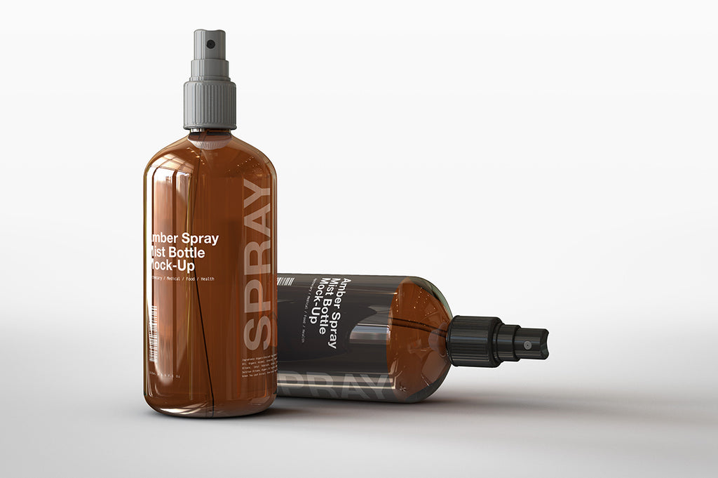 Amber Spray | Mist | Spritzer Bottle Mock-Up